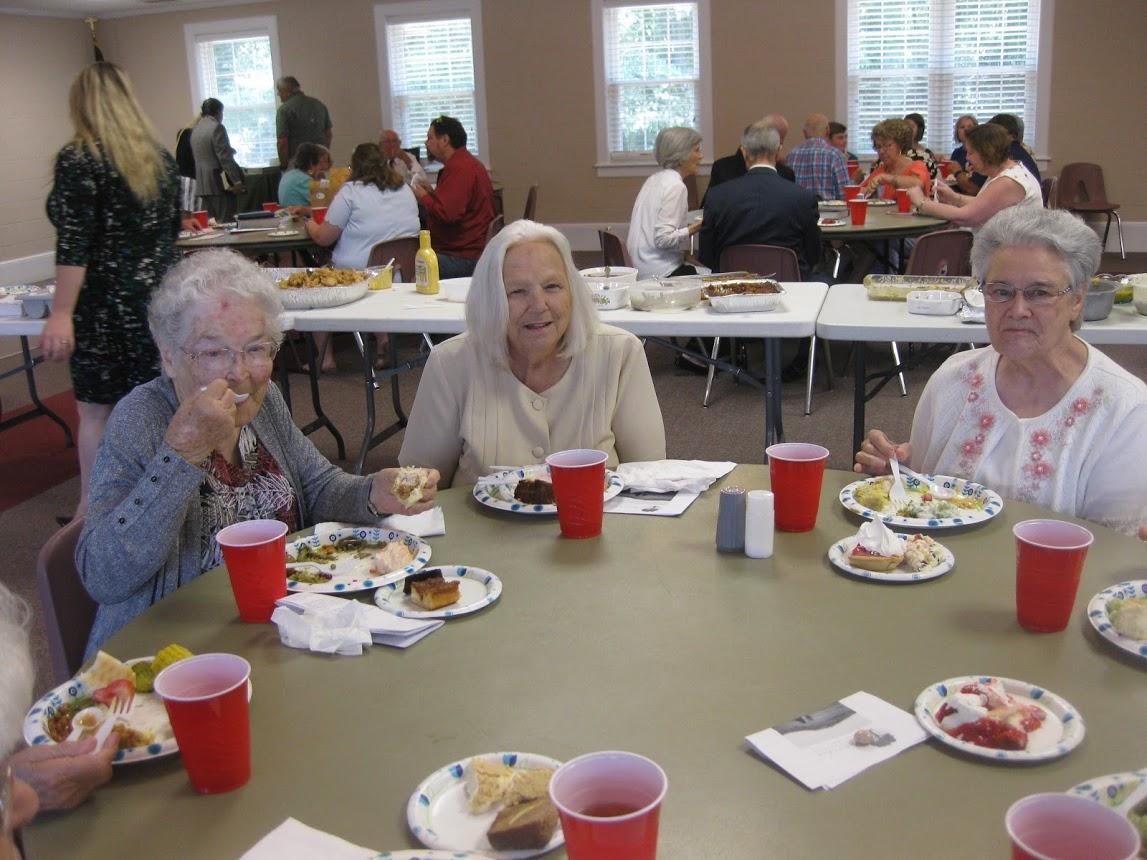 ladies at Senior Fellowship Celebration lunch