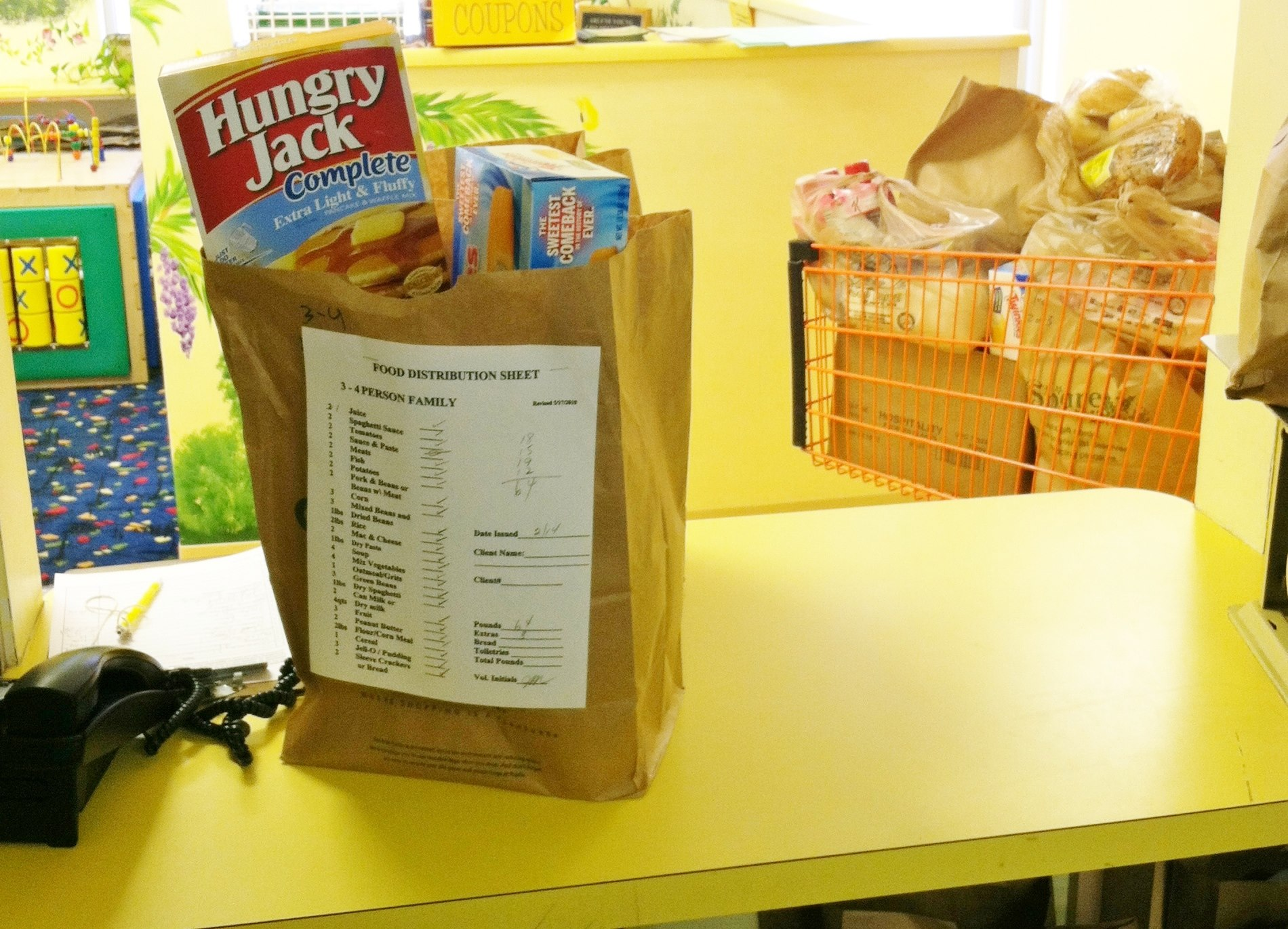 bag of food at Clemson Community Care